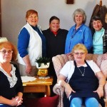 Seated L to R  Sandy Thomas, Joanne Bond Standing L to R      Mary Cullinan, Julia Stackpole, Phyllis Larson, Mariana , Carole Conners